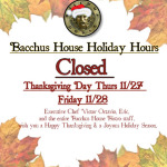 We'll be closed for the Thanksgiving Holidays