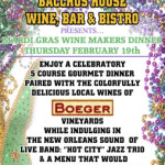 Mardi Gras Wine Maker's Dinner – SOLD OUT!