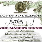 Jordan & J Vineyards Wine Maker's Dinner