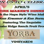 Yorba Vineyards Wine Maker's Dinner