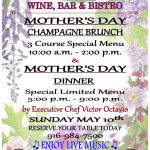 2015 Bacchus House Mother's Day Special Menus