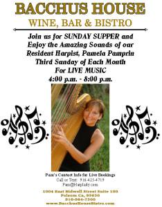 THIRD SUNDAY - Live Music with Pamela Pamprin