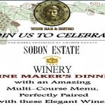 Sobon Estate Wine Maker's Dinner – Nov 19th