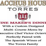 Torres Wine Maker's Dinner – Feb 18, 2016