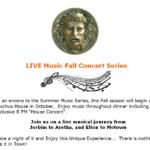 Bacchus House Bistro LIVE Music Concert Series
