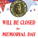 Bacchus House will be closed for Memorial Day – May 28 & 29, 2017