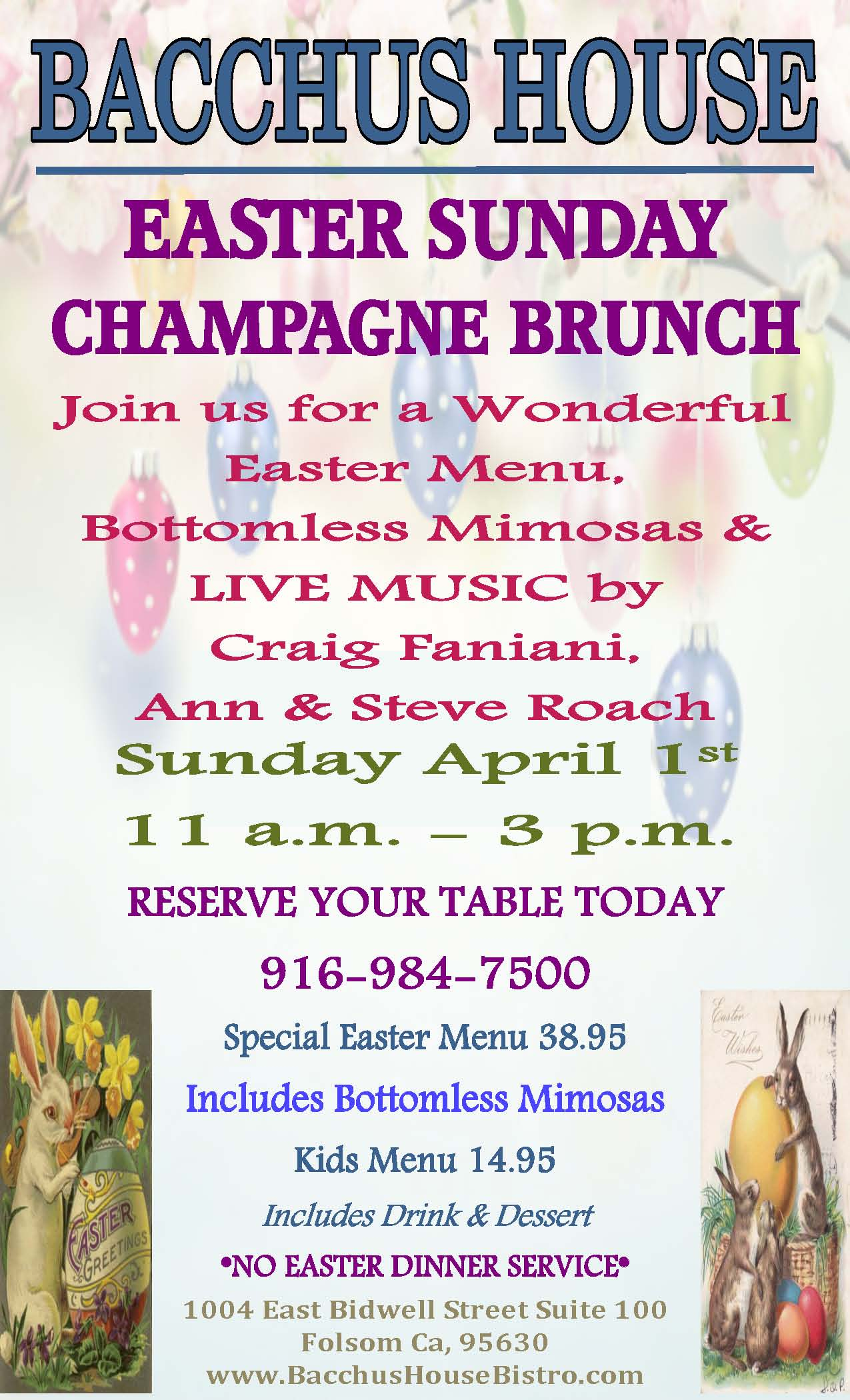 Easter Sunday Brunch - April 1, 2018