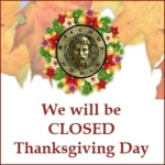 Bacchus House Closed for Thanksgiving – November 22, 2018