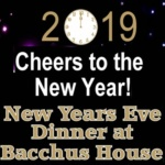 New Year's Eve Dinner & Celebration – Dec 31, 2018