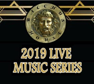 Bacchus House LIVE Music Series, Jun 7 - Oct 4, 2019 [6-9 p.m.]