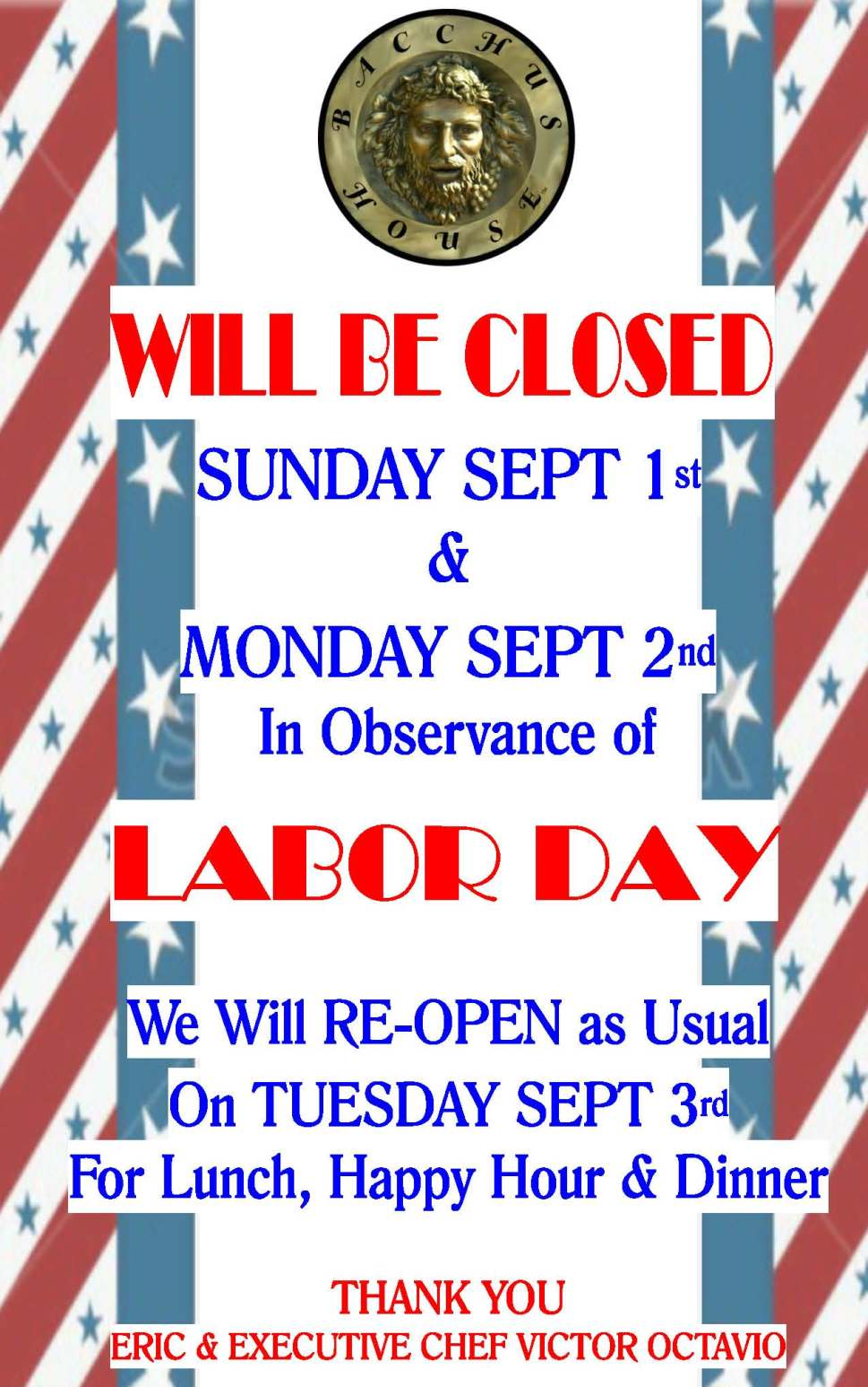 Labor Day Closed Flyer 2016