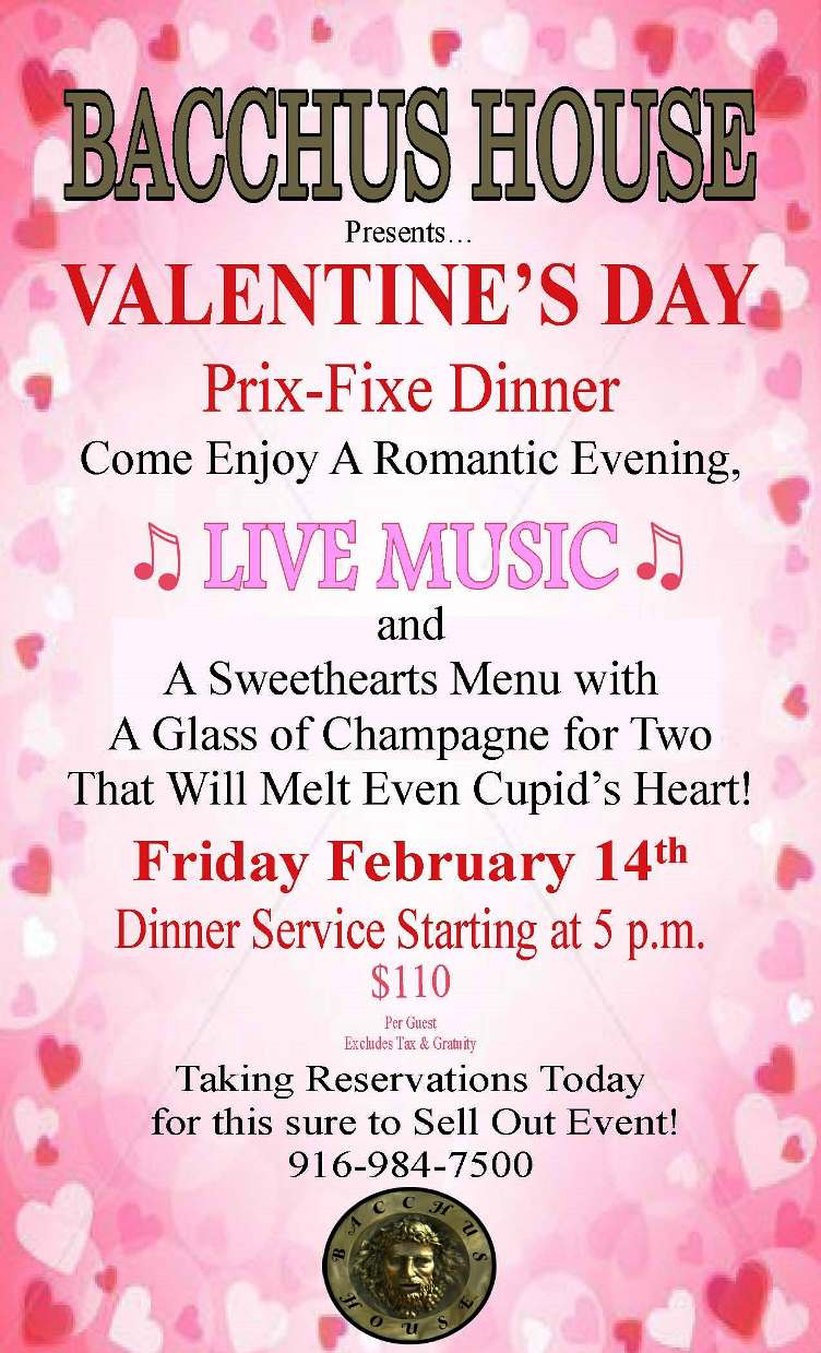Bacchus House Valentine's Dinner